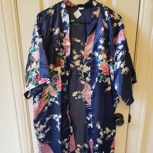 NEW Marilyn's Silk Kimono Peacock